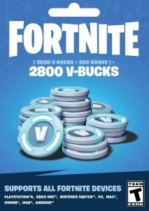 Fortnite Epic Games Key 2800 V Bucks