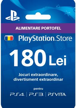 Joc Playstation Gift Card 180 RON pentru PSN