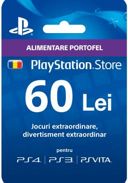 Joc Playstation Gift Card 60 RON pentru PSN