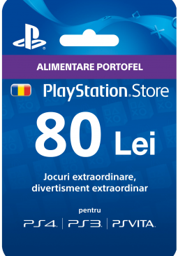 Joc Playstation Gift Card 80 RON pentru PSN
