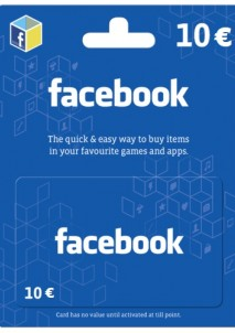 Facebook Game Card 10 EUR