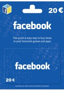 Facebook Game Card 20 EUR