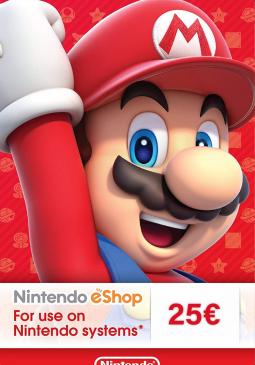 Joc Nintendo eShop Card 25€ pentru Nintendo eShop