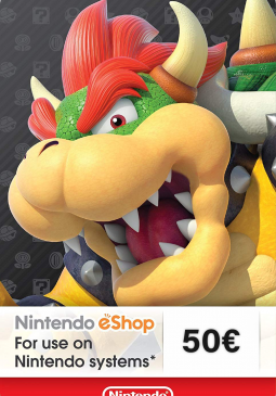 Joc Nintendo eShop Card 50€ pentru Nintendo eShop