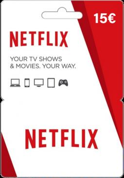 Joc Netflix Gift Card 15 EUR pentru Netflix Card