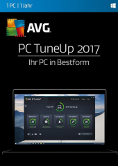 AVG TuneUp 2017, 1 User Electronic License