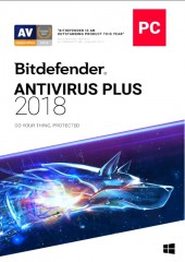 Bitdefender Antivirus Plus 2018 - 1 year, 1 user Electronic License