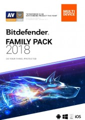 Bitdefender Family Pack 2018 for all devices, 1 year Electronic License