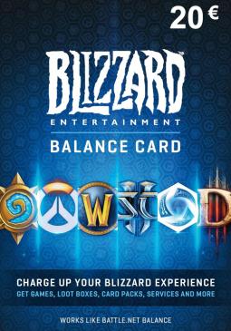 Joc Blizzard GiftCard 20 EUR Battle.net EU pentru Battle.net