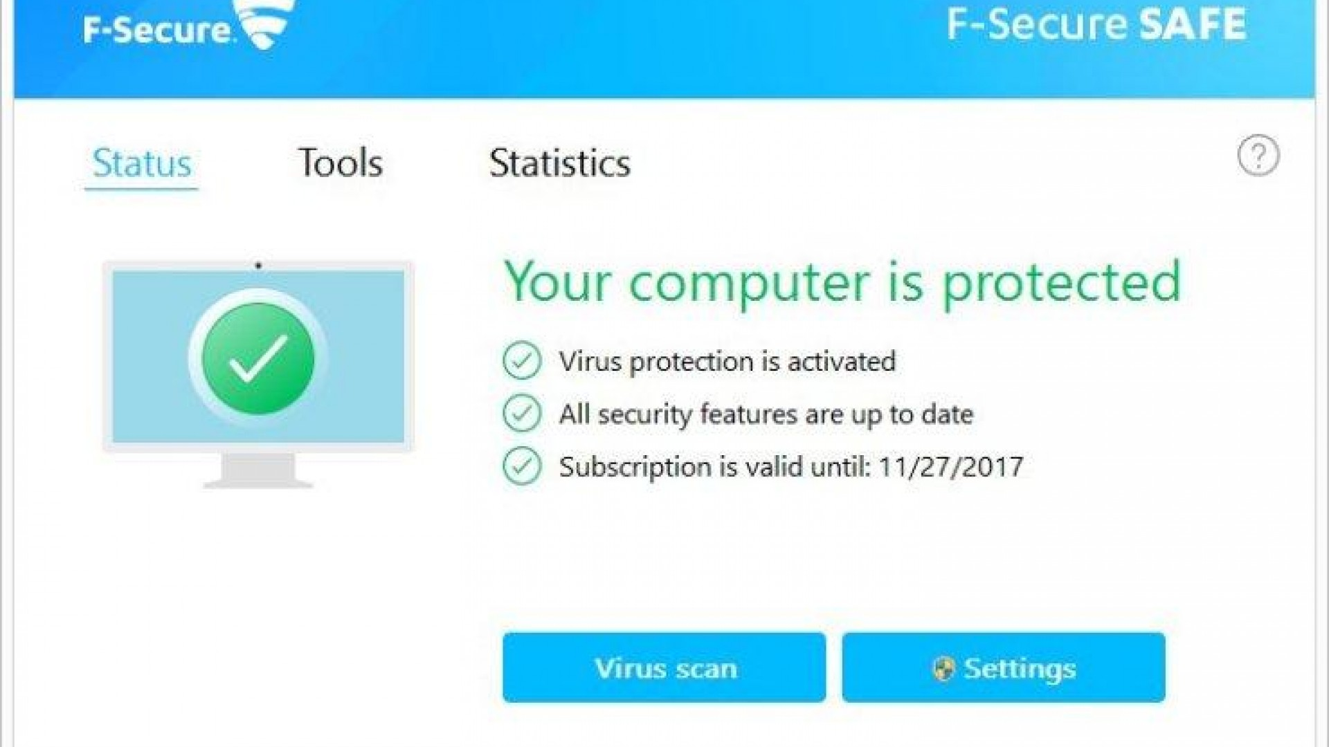 f secure subscription key 2017