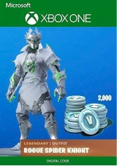 Fortnite - Legendary Rogue Spider Knight Outfit + 2000 V-Bucks XBOX One DLC