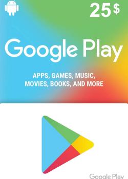 Google Play Gift Card 25 USD America