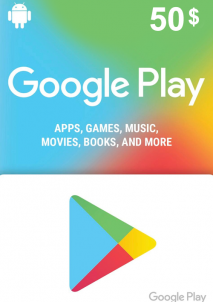 Google Play Gift Card 50 USD America