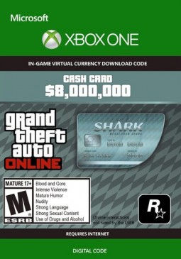 Joc Grand Theft Auto Online - $8,000,000 Megalodon Shark Cash Card XBOX One CD Key pentru XBOX