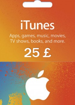 Apple iTunes Gift Card 25 GBP United Kingdom