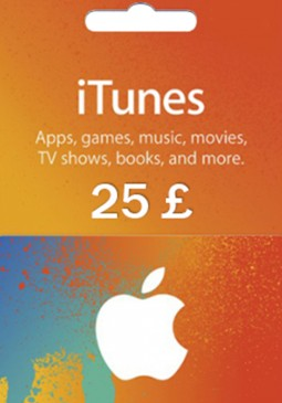 Joc Apple iTunes Gift Card 25 GBP United Kingdom pentru iTunes