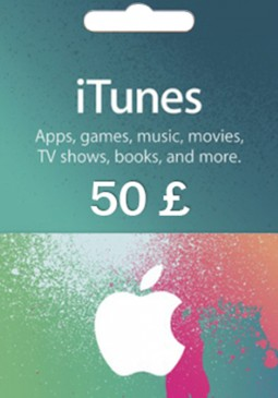 Joc Apple iTunes Gift Card 50 GBP United Kingdom pentru iTunes