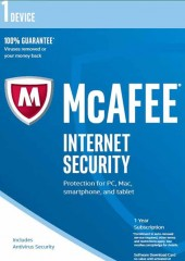McAfee Internet Security, 2017, 1 Electronic License Device