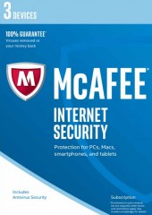 McAfee Internet Security 2017, 3 Devices Electronic License