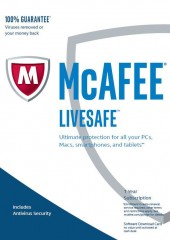 McAfee LiveSafe 2017, Unlimited Devices Electronic License