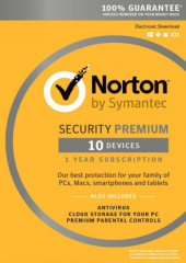 Norton security 3.0 Premium - 10 Devices + 25GB Electronic License