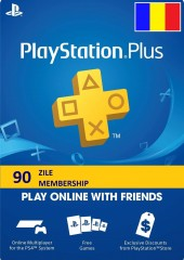 PLAYSTATION PLUS MEMBERSHIP (90 ZILE) RO PS4