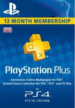 Joc Playstation Plus CARD PSN UNITED KINGDOM 365 Days pentru PSN