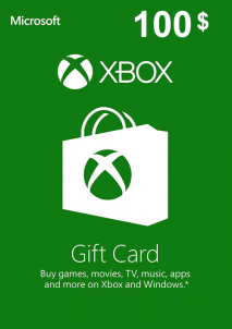 XBOX Live Gift Card Europe 100 USD America