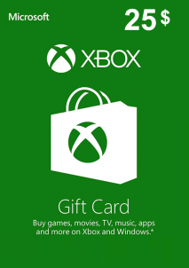 XBOX Live Gift Card Europe 25 USD America