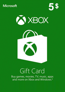 XBOX Live Gift Card Europe 5 USD America