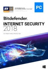 Bitdefender Internet Security 2018, 2 years, 1 user Electronic License