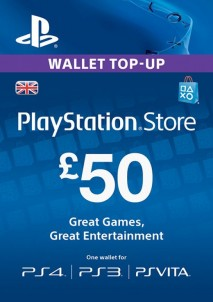 PlayStation Network 50 GBP PSN CARD UK