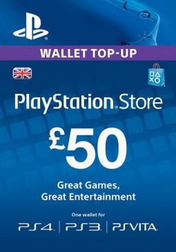 Joc PlayStation Network Gift Card 50 GBP PSN UNITED KINGDOM pentru PSN