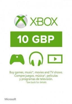 Joc XBOX LIVE GIFT CARD 10 GBP UNITED KINGDOM pentru XBOX