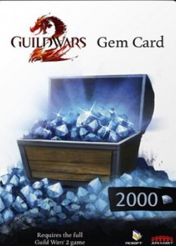 Guild Wars 2 EU 2000 Gems Code game code with instant delivery.