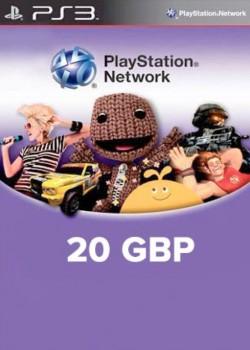 PlayStation Network Gift Card 20 GBP PSN UNITED KINGDOM