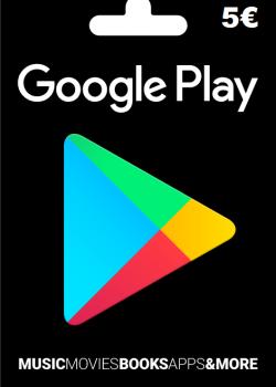 Google Play Gift Card Europe 5 EURO