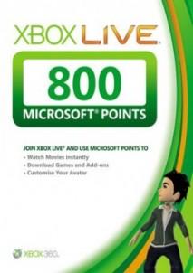 Xbox Live 800 Microsoft Points