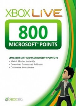 Xbox Live 800 Microsoft Points game code with instant delivery.