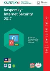 Kaspersky Internet Security 2017,3 Device Electronic License