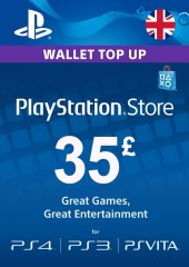 PlayStation Network Gift Card 35 GBP PSN UNITED KINGDOM