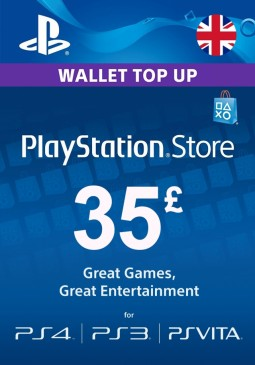 Joc PlayStation Network Gift Card 35 GBP PSN UNITED KINGDOM pentru PSN