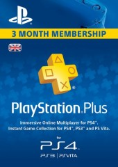 PlayStation Network Card Plus 90 Days (UK)