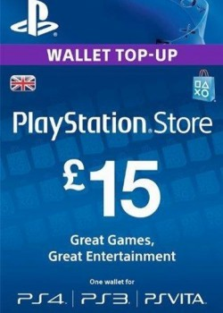 PlayStation Network Gift Card 15 GBP PSN UNITED KINGDOM