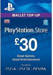 PlayStation Network Gift Card 30 GBP PSN UNITED KINGDOM