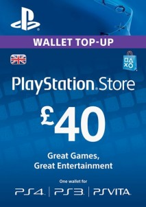 PlayStation Network Gift Card 40 GBP PSN UNITED KINGDOM