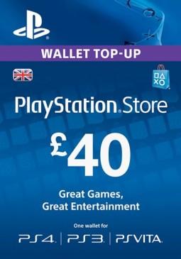 Joc PlayStation Network Gift Card 40 GBP PSN UNITED KINGDOM pentru PSN