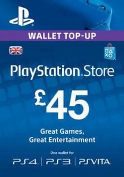 Joc PlayStation Network Gift Card 45 GBP PSN UNITED KINGDOM pentru PSN