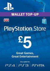 PlayStation Network Gift Card 5 GBP PSN UNITED KINGDOM