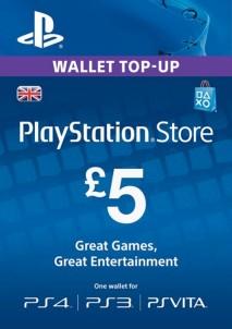 PlayStation Network Gift Card 5 GBP PSN UNITED KINGDOM